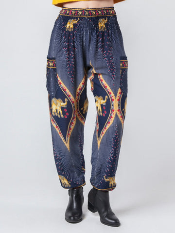 Rapsu Dark Blue Harem Pants