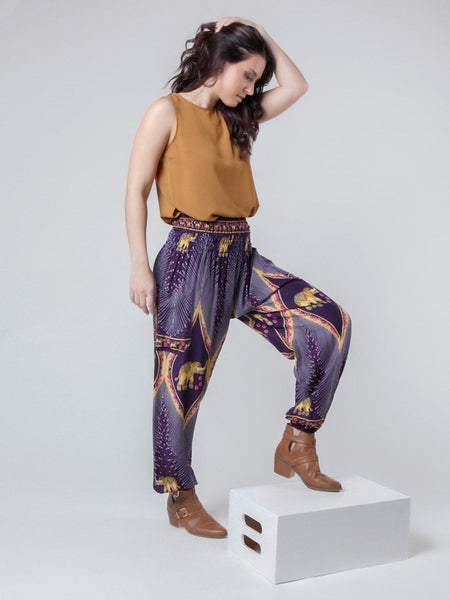Rapsu Purple Harem Pants