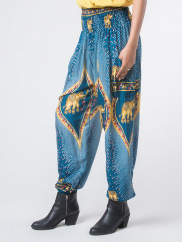 Rapsu Teal Harem Pants