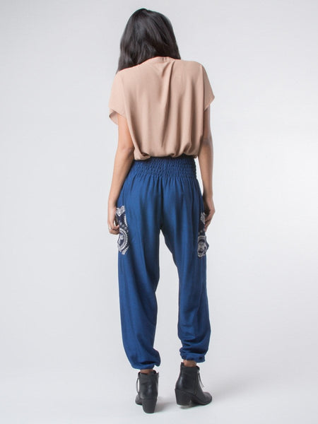 Rombo Blue Harem Pants