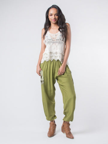 Rombo Green Harem Pants