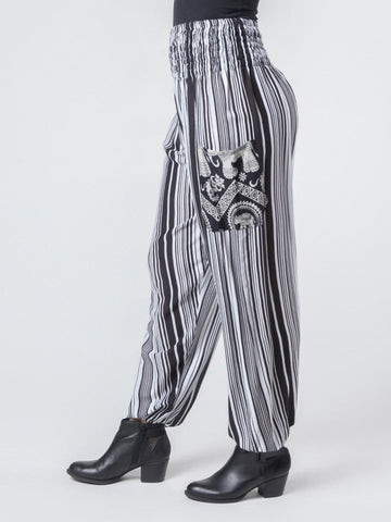 Shira Black Harem Pants