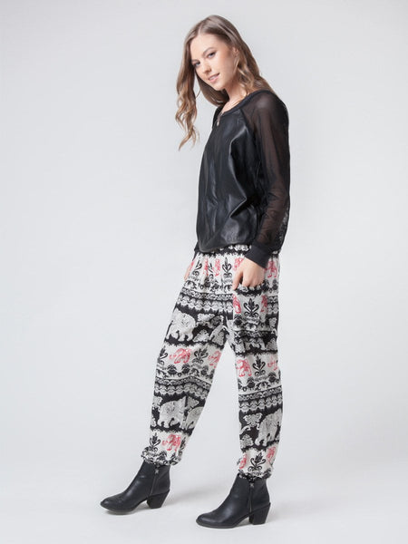 Surapa Black Harem Pants