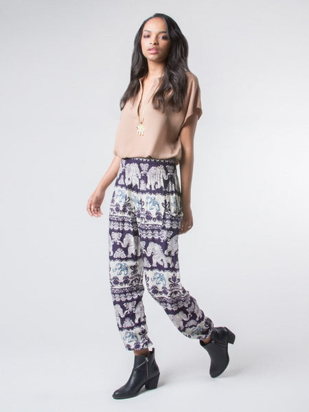 Surapa Purple Harem Pants