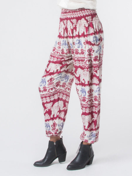 Surapa Red Harem Pants
