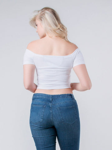 Kenze Off-The-Shoulder Crop Top