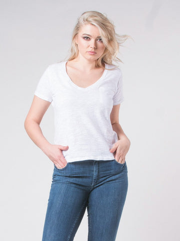 Kenze V-Neck Cotton T-Shirt
