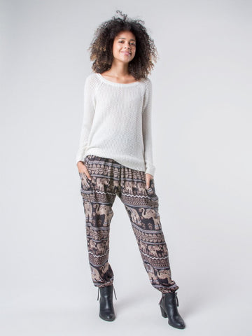Lenana Black Harem Pants
