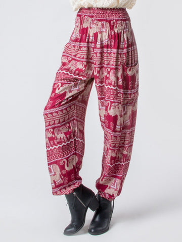 Lenana Burgundy Harem Pants