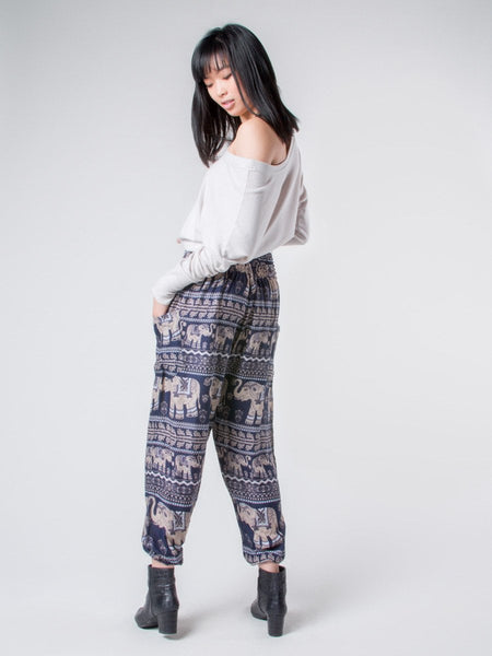 Lenana Navy Harem Pants