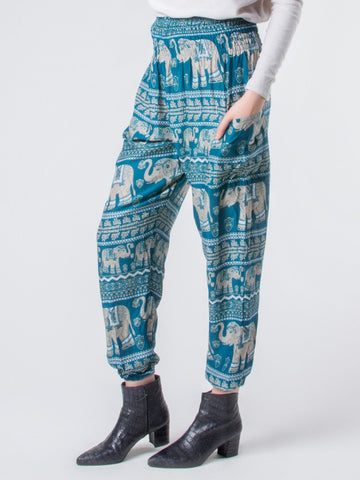 Lenana Teal Harem Pants