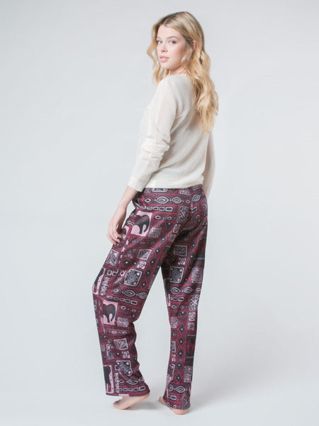 Orok Burgundy Fleece Lined Pants