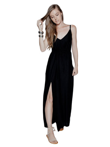 Rombo Black Maxi Dress