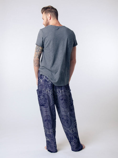 Wendi Navy Unisex Loungers - The Elephant Pants - 6