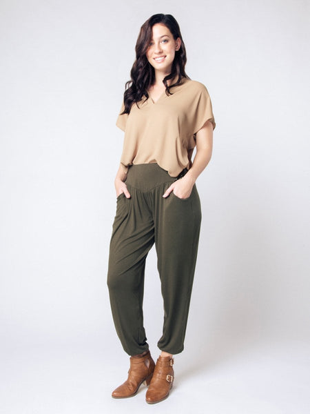 Kihari Olive Yoga Pants - The Elephant Pants - 5