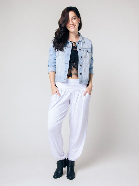 Kihari White Yoga Pants - The Elephant Pants - 5