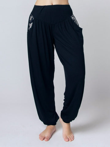 Kihari Black Yoga Pants