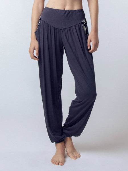 Women's Kihari Gray Yoga Pants - The Elephant Pants - Crop