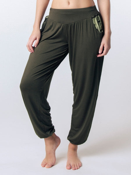 Kihari Olive Yoga Pants - The Elephant Pants - 1