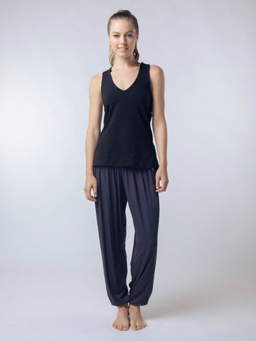 Seree Black Racerback Yoga Shirt