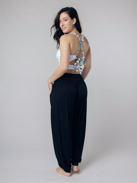 Kihari Black Yoga Pants - The Elephant Pants - 4