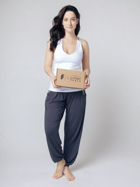 Seree White Racerback Yoga Shirt - The Elephant Pants - 5