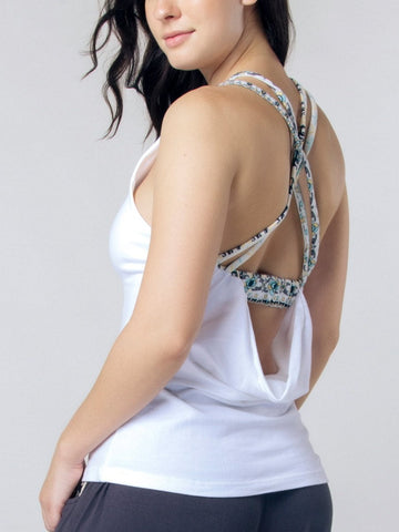 Seree White Racerback Yoga Shirt