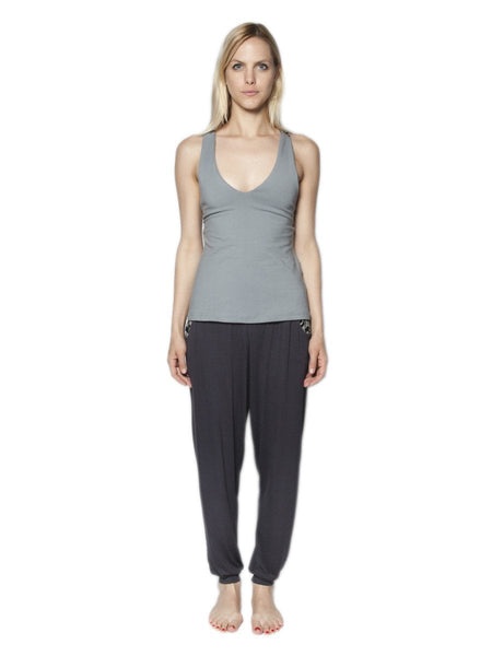 Kihari Gray Racerback Yoga Shirt - The Elephant Pants - 3