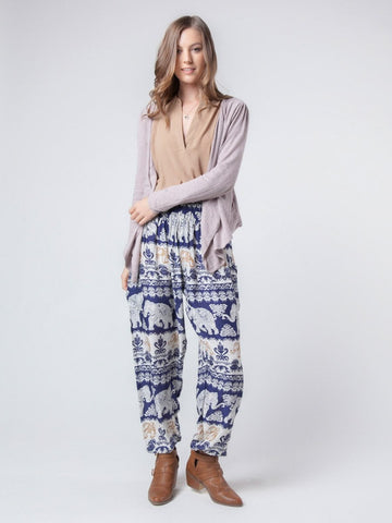 Surapa Dark Blue Harem Pants