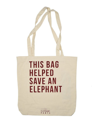 Save an Elephant Bag