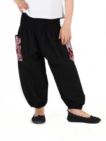 Kids Rombo Black Harem Pants
