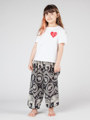 Kids Black Diamond Harem Pants