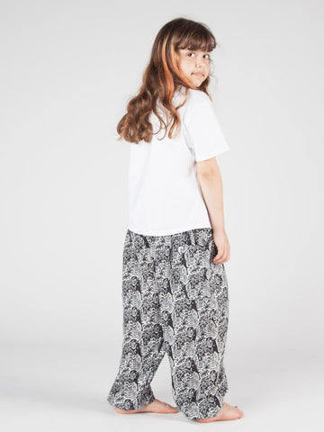 Kids Edie Black and White Harem Pants
