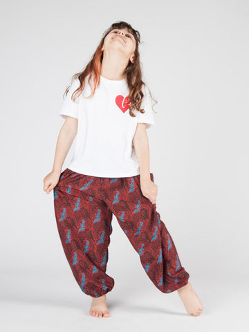 Kids Edie Burgundy Harem Pants