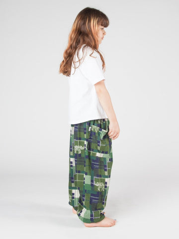 Kids Makena Green Harem Pants