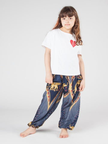 Kids Rapsu Dark Blue Harem Pants