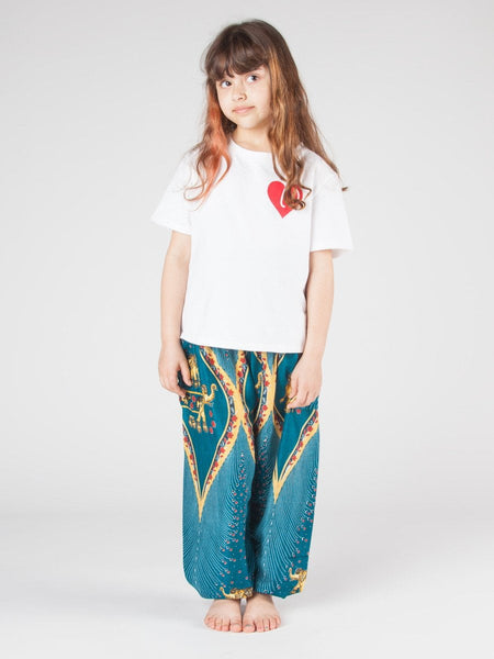 Kids Rapsu Teal Harem Pants