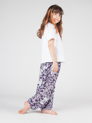 Kids Zurura Purple Harem Pants