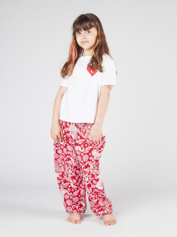 Kids Zurura Red Harem Pants