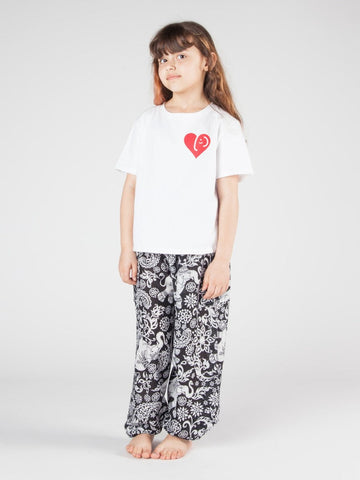 Kids Zurura Black Harem Pants