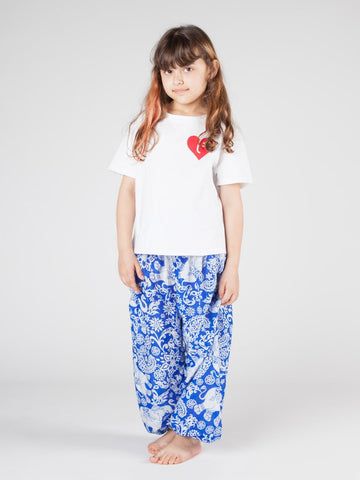 Kids Zurura Royal Blue Harem Pants