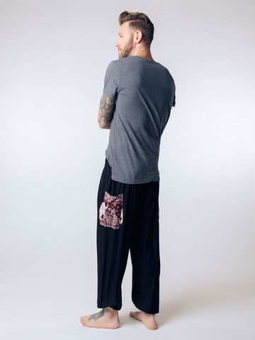 Rombo Black Men's Harem Pants