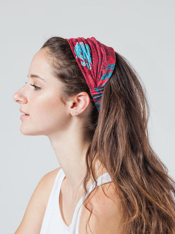 Nellie Burgundy Headband