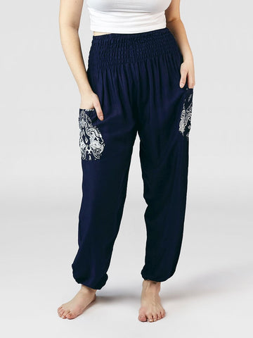 Rombo Navy Harem Pants