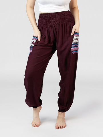Rombo Purple Harem Pants