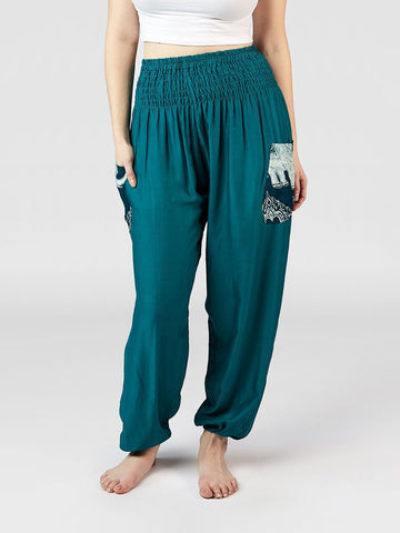 Rombo Teal Harem Pants