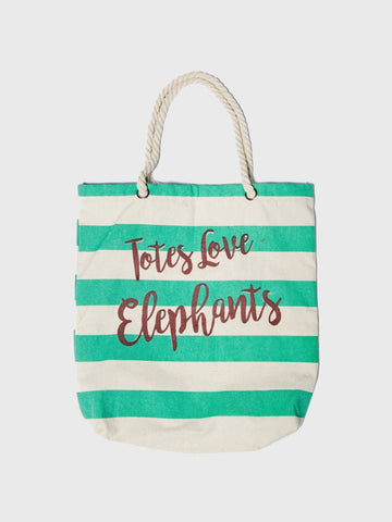 """Totes Love Elephants"" Tote Bag"