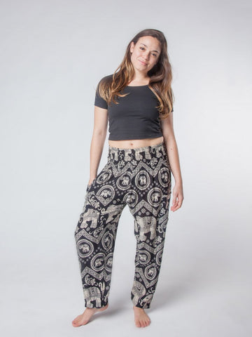 Black Diamond Harem Pants