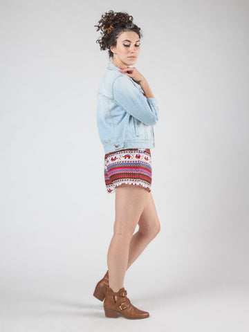 Hattie Burgundy Shorts
