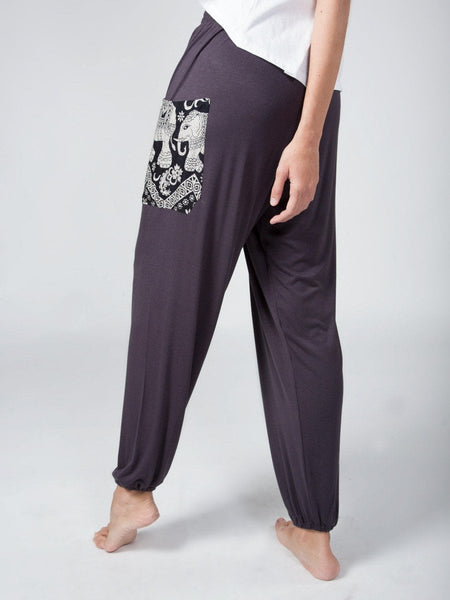 Kihari Gray Stretch Harem Pants